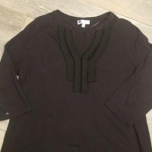 Carole Little Black V Neck Pullover
